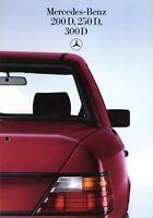 Mercedes Prospekt 1985 1/85 W124 Diesel 200D 250D 300D Autoprospekt brochure