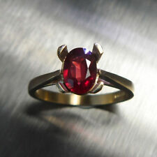 Filling Solitaire Ruby Fine Rings