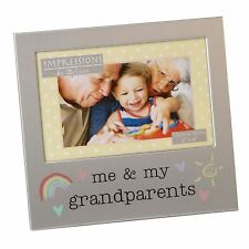 Me and My Grandparents Aluminium Photo Picture Frame Gift 6 X 4 by Juliana