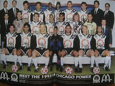PATO  MARGETIC  Signed  (3 times) Chicago Power 1993-94 Team Program(Pro Soccer)