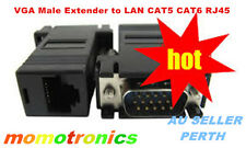 VGA Male Extender to LAN CAT5 KIT  CAT6 RJ45 Network Cable Adapter (1 Pcs only)