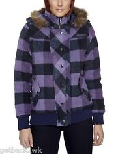 NEW* Billabong Ladies M PARKA ANORAK Winter COAT JACKET TOP Purple