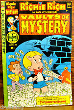 Richie Rich Vaults of Mystery #22 May 1978 Harvey World Good