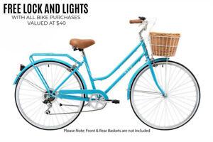 Reid Classic PLUS Vintage Bike Ladies Retro BICYCLE Shimano 7-Speed Cruiser