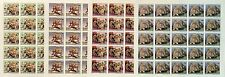 Full Set Of Sheets Mnh Stamps WWF Cheetah Imperf./ Feuilles Série WWF Guépards