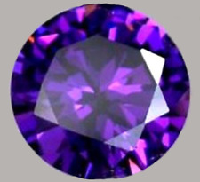 UNHEATED 6.58CT 10x10MM PURPLE COLOR CHANGE PINK SAPPHIRE VVS CIRCULAR GEM