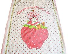 Strawberry Shortcake Padded Single Bed Quilt Vintage 1984 Rare