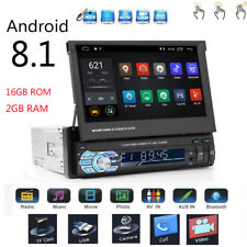 Android 8.1 1Din Bluetooth Car GPS Navigation MP3 MP5 DVD Player Stereo Radio