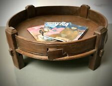 ANTIQUE INDIAN SPICE GRINDING TABLE. VINATAGE TRADITIONAL CHAKKI. COFFEE TABLE?