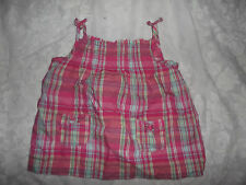 """SPROUT"" GIRLS PINK CHECK STRAP TOP ** SIZE 2"