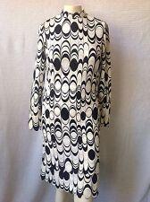 Vintage Designer Signed MR DINO Op Art Dress Black & White 12