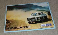 Ford Escort Rallye Sport Brochure 1977 - Escort RS2000 & RS Mexico