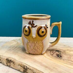 GIBSON Home Stoneware Vintage Style Owl Coffee Mug 12 Oz Cute Ornate
