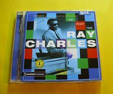 """CD """" RAY CHARLES - THE RIGHT TIME """" 20 SONGS (WHAT'D I SAY)"""