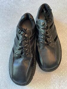 GBX Black Leather Oxford Mens Work Lace Up Low Top Shoes - NEW- Sz 13.  -  (SS6)