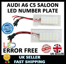 AUDI A6 C5 SALOON UPGRADE WHITE LED NUMBER LICENSE PLATE LIGHT UNITS LAMPS