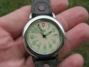 Men's Swiss Army Watch Marlboro Cavalry 330F Water Resist, Leather Band, WORKS