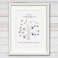 PERSONALISED Mothers Day gift Nan, Nanny, Nana, Mum Mummy, Family Tree