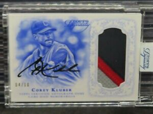 2015 Topps Dynasty Corey Kluber Game Used Patch Auto Autograph #4/10 C988