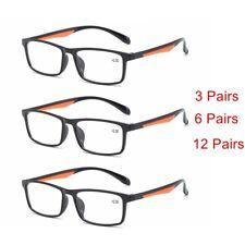 3/6/12 PACK Reading Glasses Rectangle Retro Readers 1.0 1.5 2.0 2.5 3.0 3.5 B631