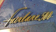 Ford Fairlane 500 Trunk Emblem, 1961, #C1AB6442528A, Vintage, Metal, Falcon