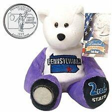 "#2 Limited Treasures Pennsylvania State Quarter Collectible Plush 9"" Bear"