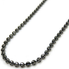 "22"" 2.5mm 9.40 grams Mens ladies 14K Black Gold Dog Tag Ball Bead Chain Necklace"