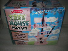 RARE HTF Brand New Melissa and Doug Solid Wood Treehouse Play Set w/ 5 Platforms