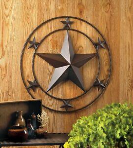 Round Texas Star Metal Wall Decor - Jackson Mountain
