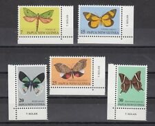 TIMBRE STAMP 5 PAPOUASIE Y&T#371-75 PAPILLON BUTTERFLY NEUF**/MNH-MINT 1979 ~B58