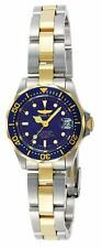 Invicta Womens Pro Diver Quartz Stainless Steel Diving Watch, Color:Silver/Gold