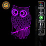 OWL ORIGAMI ANIMAL3D Acrylic LED 7 Colour Night Light Touch Table Lamp XMAS