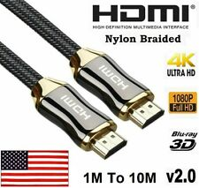 Premium HDMI Cable V2.0 3D 4K 2160p 1080p Ultra HD Braided High Speed 1M to 10M