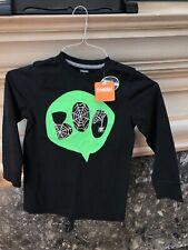 NWT Gymboree Black  L/S Glow In The Dark Halloween Boo Spiderweb Shirt 5