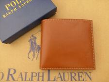 POLO RALPH LAUREN Leather Wallet Mens Brown Slim Bi-fold Card Wallets Boxed R£69