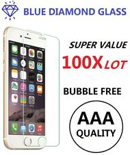 Bulk 100x Lot Tempered Glass Screen Protector for iPhone XS MAX 6s 5 7 8 Plus XR