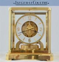 Jaeger LeCoultre ATMOS 528-8 Gold Plated Mantel Clock Swiss Serviced 2017 - RUNS