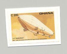 Ghana #1553 Zeppelin 1v Imperf Proof on Card