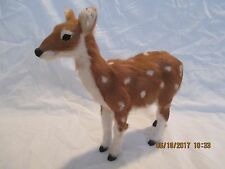 "Christmas Fawn Decoration Lifelike 8 1/2"" X 8 1/2"""