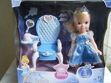 My First Disney Princess Cinderella Royal Styling Throne Doll NEW!
