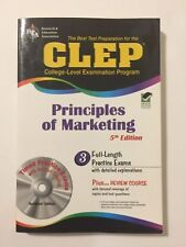 CLEP Test Preparation: REA Principles of Marketing by James Finch (5th Edition)
