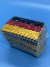 "Lot of 25 GERMAN FLAG Iron On Patches 2""x1.5"" GERMANY PATCH s9"