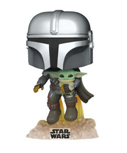 Star Wars The Mandalorian Flying With Child Funko POP! 402 - In Stock