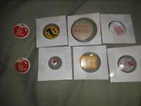 Vintage Lot of 8 Misc. Variety Funny Comedy Button pin Pins Pinback Rare, bin88
