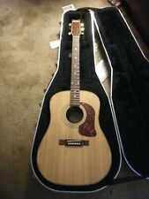 Washburn acoustic guitar Some blemishes and missing a couple strings Case incl.