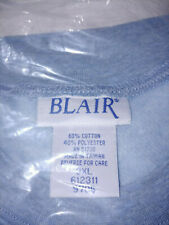 Blair Woman's 3x Pullover Sweat suit baby blue and multi colored separate shirt