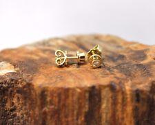Gold Ohrstecker mit Diamanten besetzt, ca. 0.06ct (je Diamant), 585er Gelbgold