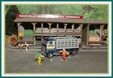 1981 Hot Wheels: HO Scale _ Cattle Truck / Stake Bed Hauler _ (Crash Barrier)
