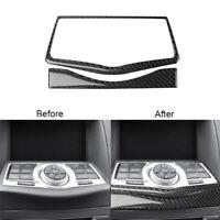 1 Set For Nissan 370Z 2009-2020 Carbon Fiber Navigation Decoration Cover Trim
