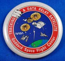 "Goddard Space Flight Center Data Satalite NASA Space Pin Pinback Button 2 1/4"""